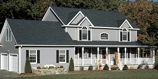 asphalt shingles on house