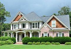 Shingle house roofs