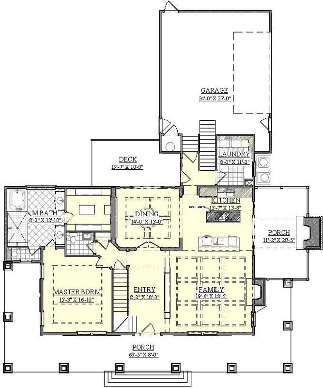 hamptons style house plan