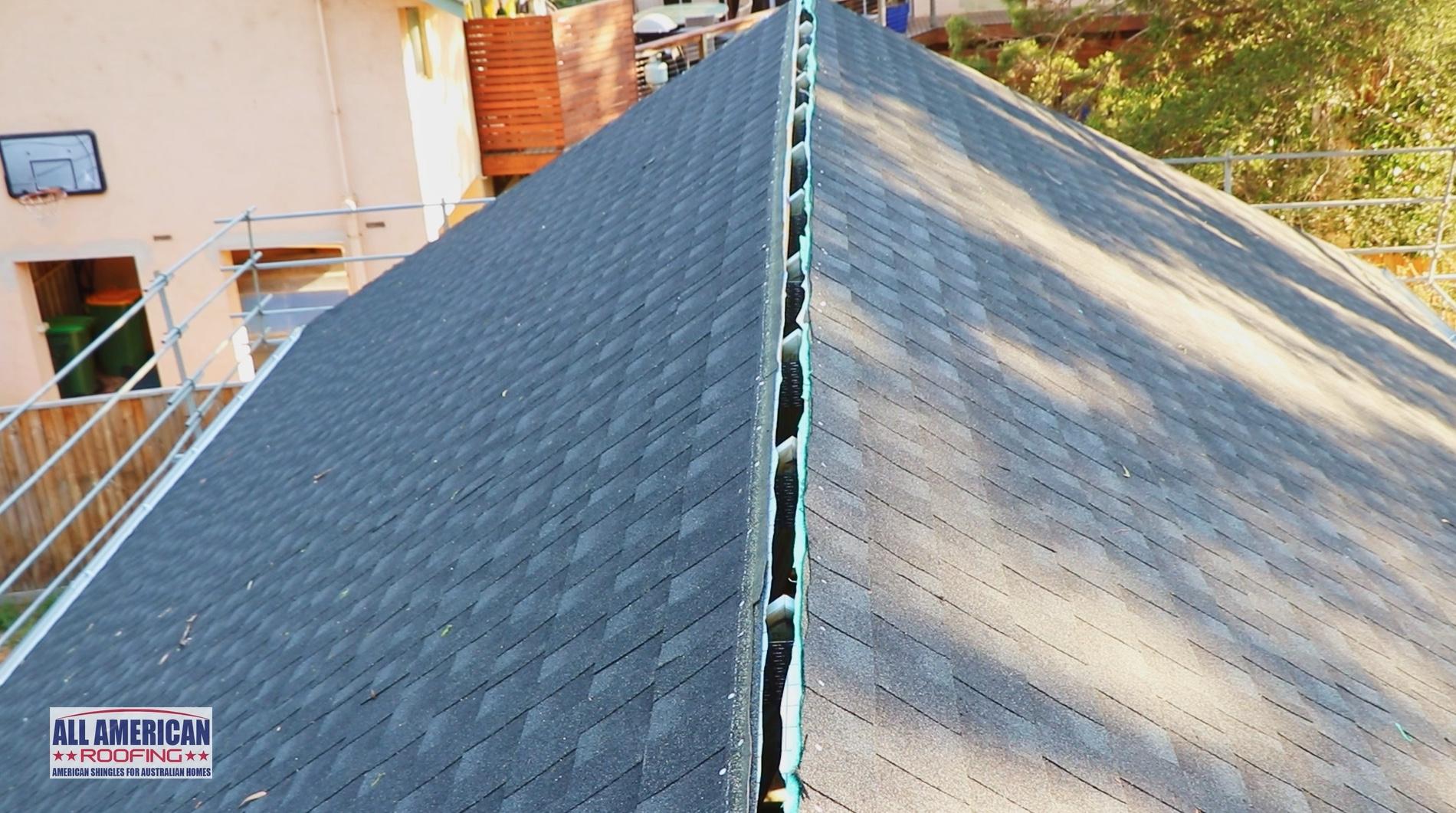 ridge ventilation gap