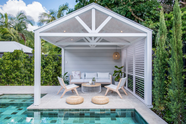 open plan pool cabana